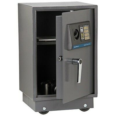 Steel Electronic Digital Home Safe Dual Lock Jewelry Cash Floor Mount 1.51 Cu Ft