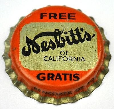 Nesbitt's of California Soda Kronkorken USA Bottle Cap Korkdichtung