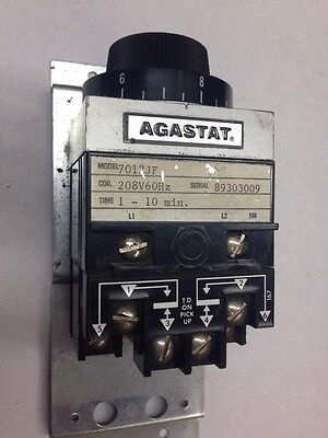 Agastat 7012JF  1-10 Min Minute 208VAC COIL Time Timing Delay Relay Timer