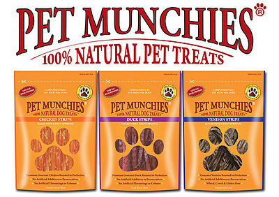 Pet Munchies Natural Dog Treats Healthy 100% Meat Jerky Low Fat Pure Dog Treats