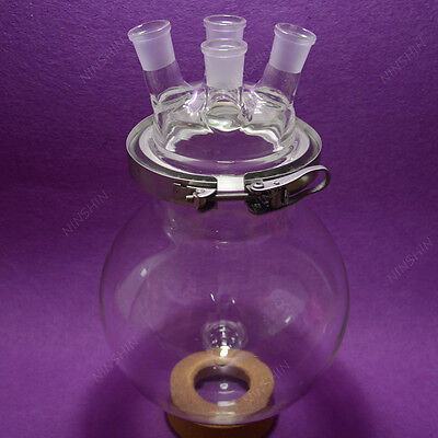 4-neck Reaction Flask,24/29,5000ML Separately flask(round bottom),with Clamp