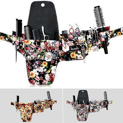 Hairdressing Scissor Pouch Tool Belt Shear Holster Bag Kassaki Flower