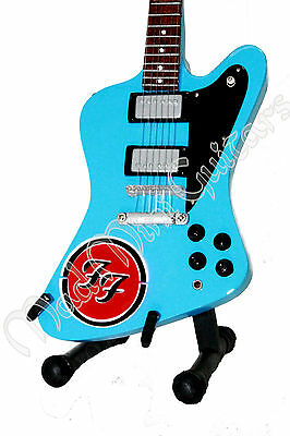 Miniature Guitar FOO FIGHTERS with free stand. Dave Grohl Firebird