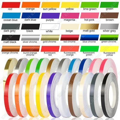 "1/8"" Roll Pinstriping Pin Stripe Vinyl Tape Decal Sticker Car Motorcycle 3mm"