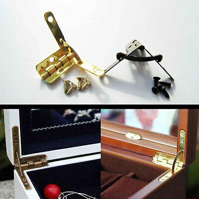 12pc Mini Jewelry Display Chest Case Watch Makeup Box L 90° Support Spring Hinge