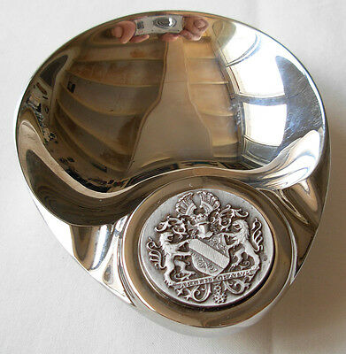 "Silver Plated Dish Set With "" Medal "" --  Argentoratvm -- By J.balme"