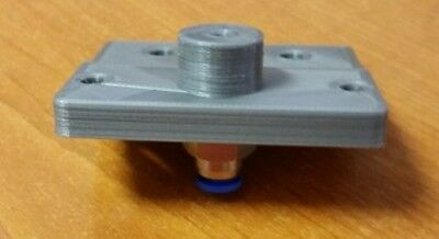 Bowden Adapter Reloaded Extruder 3D Printer  PLA 1.75 or 3mm RepRap Silver