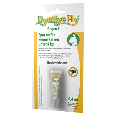Convet ByeByeFly Spot-on pour petits Chats 0,4 ml, NEUF
