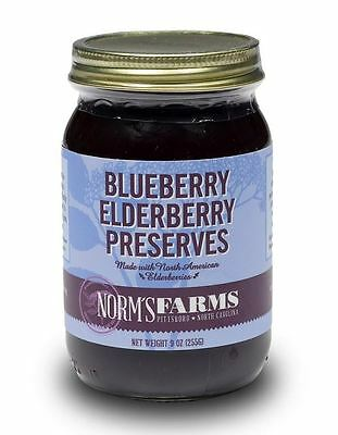 Norm's Farms Blueberry Elderberry Preserves 9 Ounce