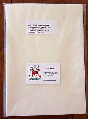 EDIBLE WAFER PAPER | Sugar Free A4 | 10 SHEETS | White | FREE Same Day Shipping