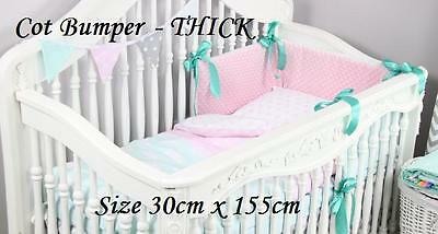 Soft MINKY and 100% cotton - COT BUMPER - THICK - 19 colors of Minky