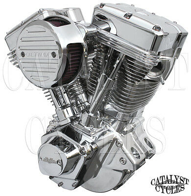 "Polished 120"" Ultima Engine El Bruto Evolution Motor for Harley Evo Engine 84-99"
