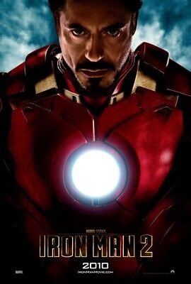IRON MAN 2 MOVIE POSTER 2 Sided ORIGINAL RARE Advance 27x40 ROBERT DOWNEY JR.