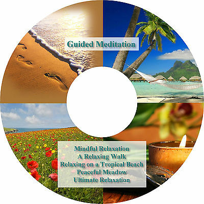 5 x Guided Meditation Relaxation Sessions on CD Stress Relief Deep Sleep Healing