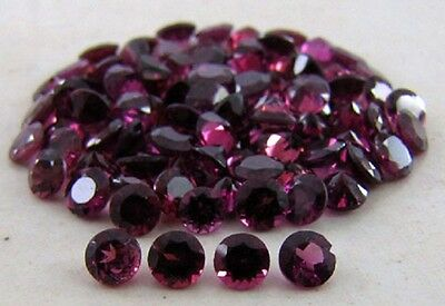 1mm to 8mm Calibrated Size Natural Rhodolite Garnet Round Cut Loose Gemstone