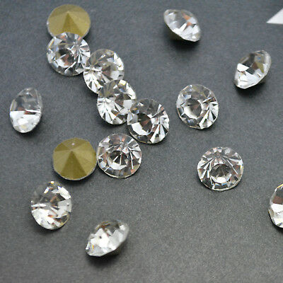 Crystal Clear Rhinestone Point back Crystal Glass Loose Beads Chatons Nail Art
