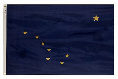 5x8 ft ALASKA The Last Frontier OFFICIAL STATE FLAG OUTDOOR NYLON USA MADE