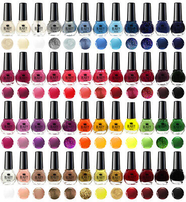 24 x Nail Polish Set 24 Modern Colours Display Box Authentic Glass Bottles B4B