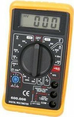 mercury 600.101 | Digital Multimeter Multitester AC DC Voltmeter Shockproof Body
