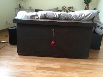 Antique 1790 Trunk, Chest - PICK UP ONLY (Michigan)