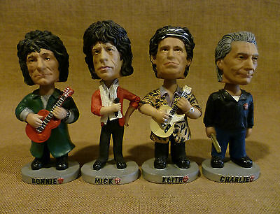 SET OF 4  BOBBLEHEADS: THE ROLLING STONES  knuckles in clamshell jagger richard