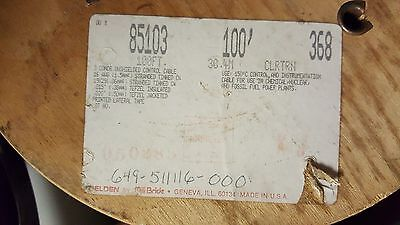 Belden Wire 85103 16/3C 16awg 3 Cabled Cond. Tefzel/ETFE Insul. 150C Clear /10ft