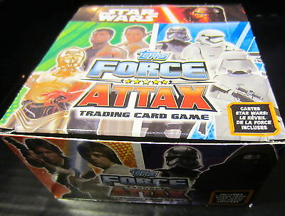 DISNEY TOPPS - 50 BOOSTERS de 5 cartes STAR WARS Réveil - Série 2 - FORCE ATTAX