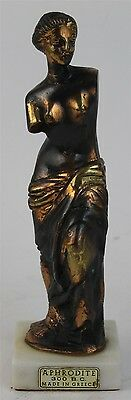 Vintage Bronze Finish Greek Goddess Aphrodite Love & Beauty Statue Figurine