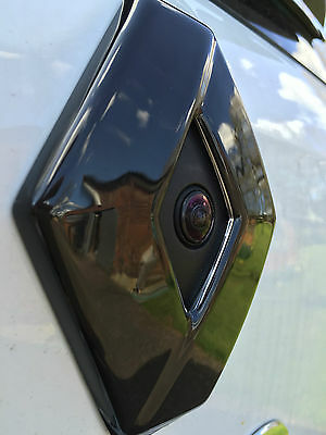 Renault Clio 4 MODELS WITH REAR CAMERA (2013-2016) REAR GLOSS BLACK BADGE COVER