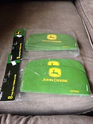 John Deere Green Party Visors - 2 new Packs of 8