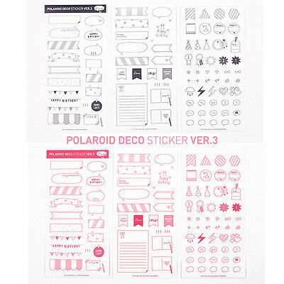 6 Sheets DIY Calendar Photo Paper Sticker Scrapbook Diary Planner Decor