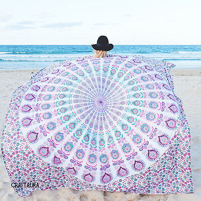 Indian Hippie Mandala Wall Hanging Tapestry Beach Throw Ethnic Bedspread Decor
