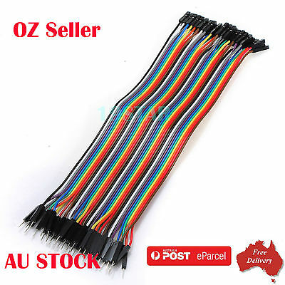 40Pcs Male to Female DuPont Jumper Wire / Breadboard Wire  for Arduino -AU STOCK