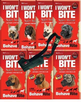 MIKKI DOG MUZZLE - 13 Sizes for Male Dogs Puppy & Bitches Short Nosed Dogs