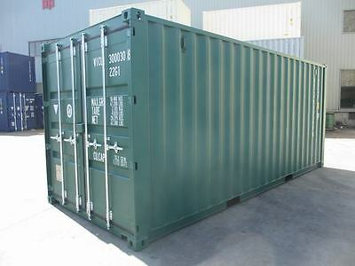 Shipping Containers 20 Ft New One Trips Southampton Depot Green 6005