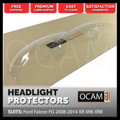 OCAM Headlight Protectors for Ford Falcon FG 2008-2014 XR XR6 XR8 Lamp Covers