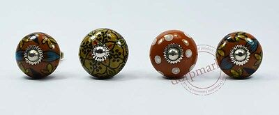 16 Pes Grey,Yellow& Mix Color Kitchen / dress Ceramic Knobs Cupboard drawer Pull
