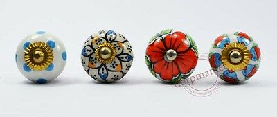 16Pieces White,Red& Mix Color Kitchen / dress Ceramic Knobs Cupboard drawer Pull