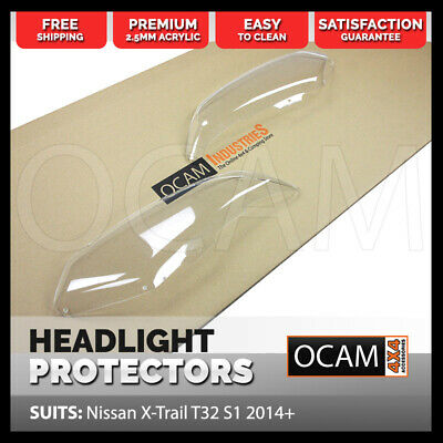 OCAM Headlight Protectors for Nissan X-Trail Xtrail T32 2014-2016 Lamp Covers