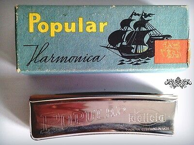 Vintage Popular Ligna Mouth-Organ Harmonica