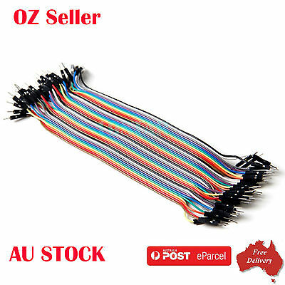 40pcs 220mm Breadboard Dupont Jumper Wire MALE TO MALE for Arduino Breadboard