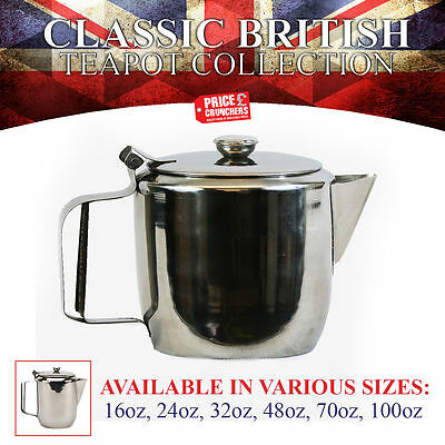 Stainless Steel Teapot Coffee Pot For Tea Hot Water Catering Cafe Kitchen