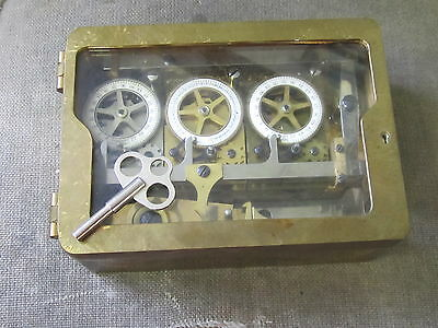 Patent 1877 Sargent & Greenleaf 3 Movement Time Lock Vault Mech Bank Safe Ex++