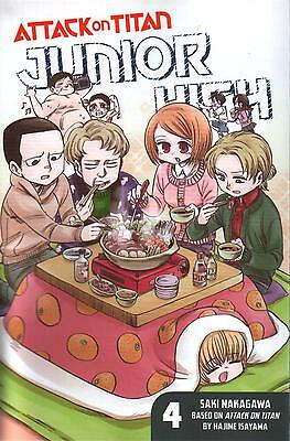 Attack On Titan Junior High Volume 4  Saki Nakagawa    Manga Pbk  NEW