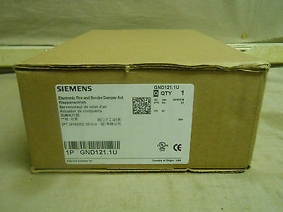 Siemens GND121.1U Electronic Fire & Smoke Damper Actuator *BRAND NEW* FREE SHIP!