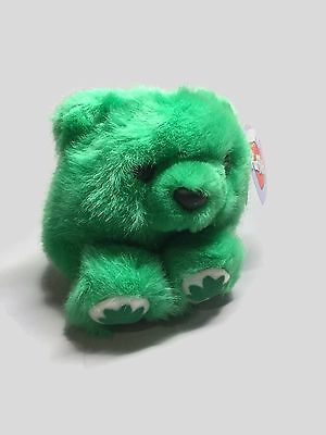 PUFFKINS PATRICK Four Leaf Clover Green Plush BEAR NWT St. Patrick's Day toy