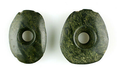 Large Pair Of Ancient Mayan Ear Spools