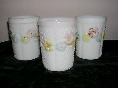 EAPG Consolidated Glass Cosmos set of 3 TUMBLERS
