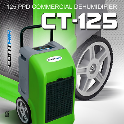 Contair® CT-125 ETL Certified Industrial Commercial Grade Dehumidifier Green