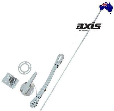 Axis Genuine 27Mhz Am & Marine 1 Metre Antenna Amx3 White Suit Boat Caravan